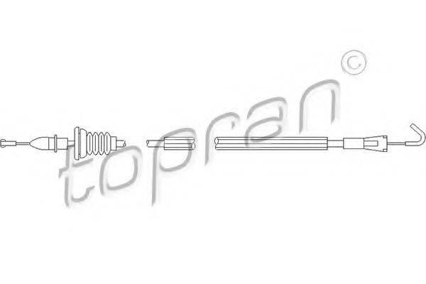 TOPRAN 109905 Трос, замок двери