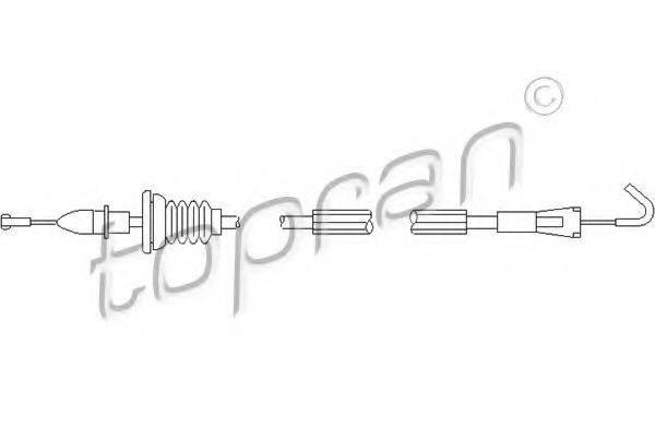 TOPRAN 109906 Трос, замок двери