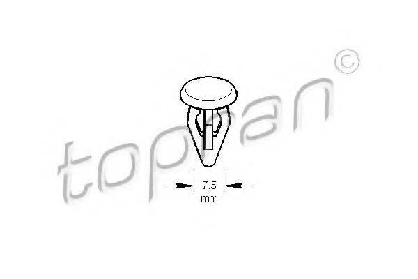 TOPRAN 107192 Зажим, молдинг / защитная накладка