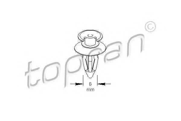 TOPRAN 109024 Зажим, молдинг / защитная накладка
