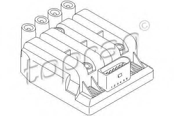 TOPRAN 109539 Коммутатор системы зажигания