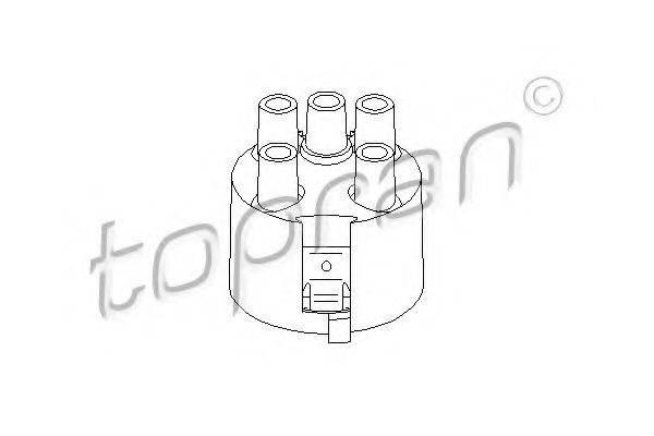 TOPRAN 100980 Крышка распределителя зажигания