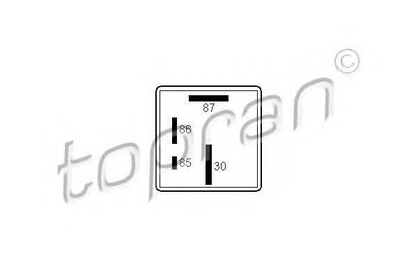 TOPRAN 107258 Реле, система накаливания
