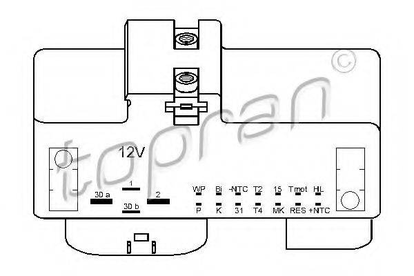TOPRAN 110825 Реле, продольный наклон шкворня вентилятора