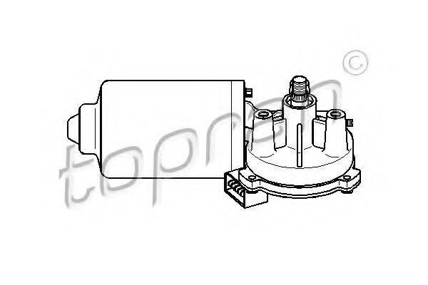 TOPRAN 108792 Двигатель стеклоочистителя