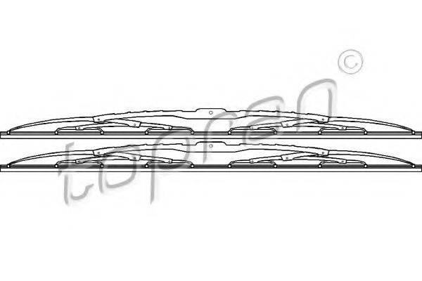 TOPRAN 108962 Щетка стеклоочистителя