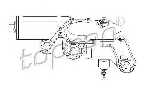 TOPRAN 111300 Двигатель стеклоочистителя