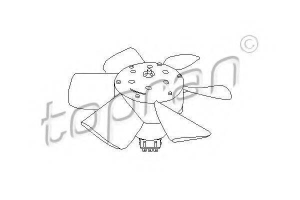 TOPRAN 102547 Вентилятор системы охлаждения двигателя