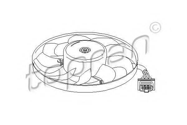 TOPRAN 107706 Вентилятор системы охлаждения двигателя