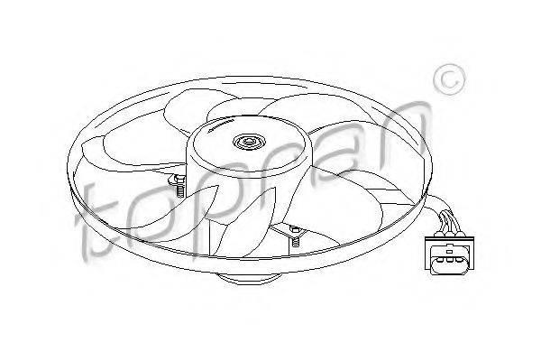 TOPRAN 107704 Вентилятор системы охлаждения двигателя