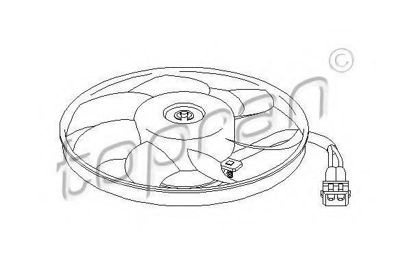 TOPRAN 111438 Вентилятор системы охлаждения двигателя