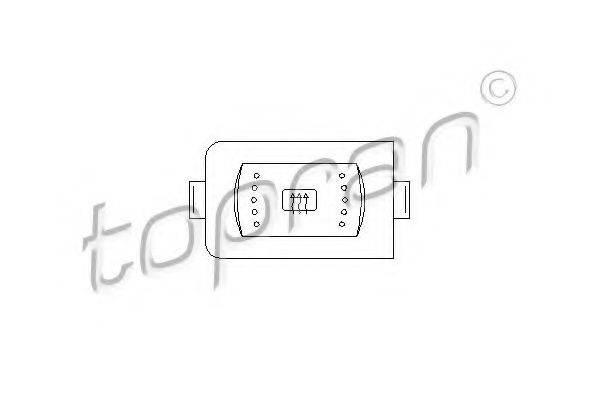TOPRAN 108883 Выключатель, обогреватель заднего стекла