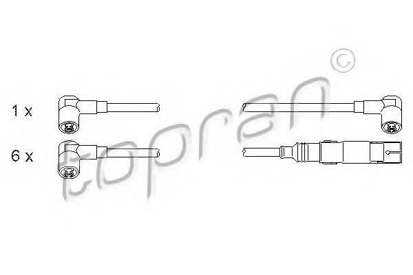 TOPRAN 107251 Комплект проводов зажигания
