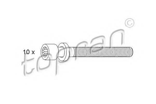 TOPRAN 109546 Комплект болтов головки цилидра