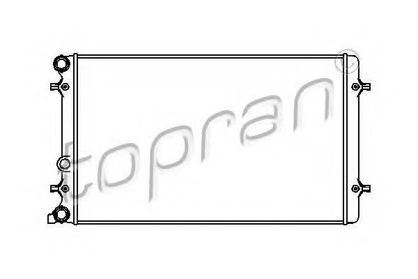 TOPRAN 112325 Радиатор охлаждения двигателя