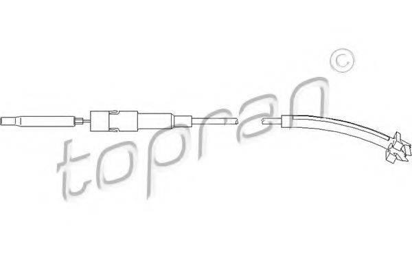 TOPRAN 113437 Трос, регулировка спинки сидения