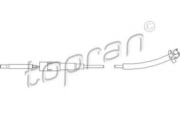 TOPRAN 113436 Трос, регулировка спинки сидения