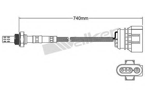 WALKER PRODUCTS 25024147 Лямбда-зонд