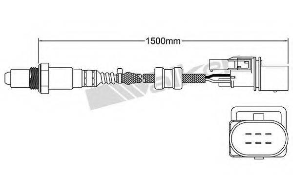 WALKER PRODUCTS 25025008 Лямбда-зонд