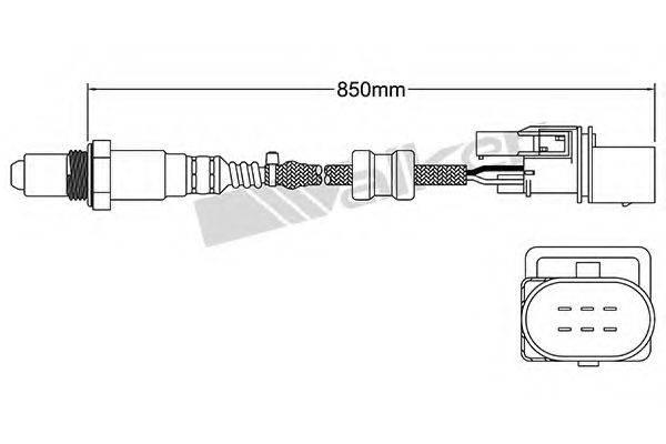 WALKER PRODUCTS 25025007 Лямбда-зонд
