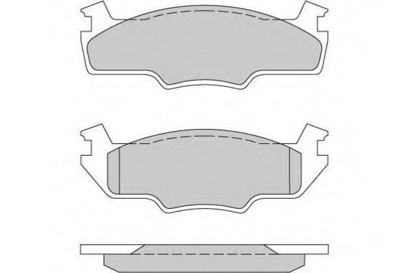 E.T.F. 120162 Тормозные колодки