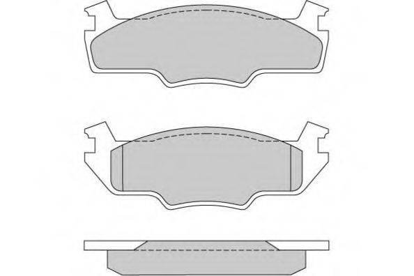 E.T.F. 120166 Тормозные колодки