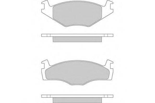 E.T.F. 120260 Тормозные колодки