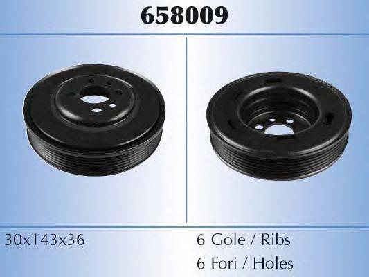 MALO 658009 Ременный шкив, коленчатый вал