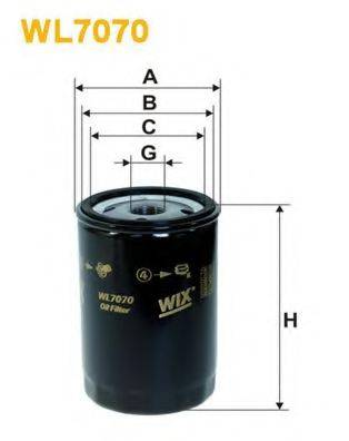 WIX FILTERS WL7070 Фильтр масляный ДВС