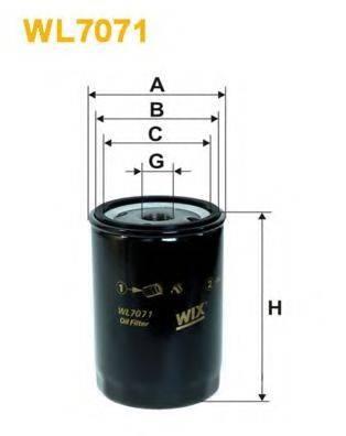 WIX FILTERS WL7071 Фильтр масляный ДВС