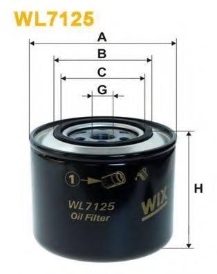 WIX FILTERS WL7125 Фильтр масляный ДВС