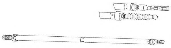 CEF VW02166 Трос, стояночная тормозная система