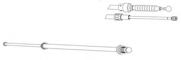 CEF VW02187 Трос, стояночная тормозная система