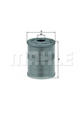 KNECHT OX125D Фильтр масляный ДВС