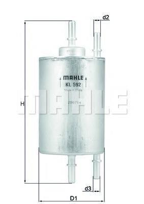 Топливный фильтр KNECHT KL 592