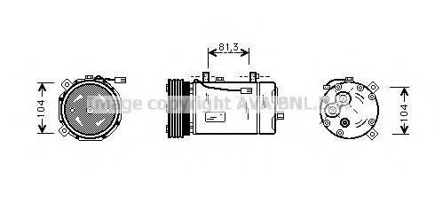 PRASCO FDAK267 Компрессор кондиционера