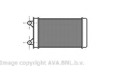 PRASCO VW6117 Радиатор печки