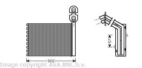 PRASCO VW6202 Радиатор печки