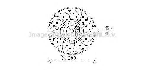 PRASCO VW7530 Вентилятор системы охлаждения двигателя