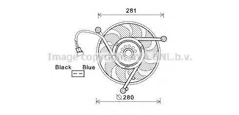 PRASCO VW7531 Вентилятор системы охлаждения двигателя