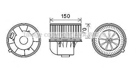 PRASCO VW8354 Вентилятор салона