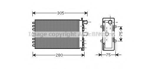 PRASCO VWA6239 Радиатор печки