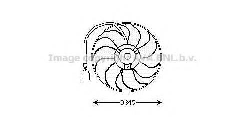 PRASCO AI7509 Вентилятор системы охлаждения двигателя