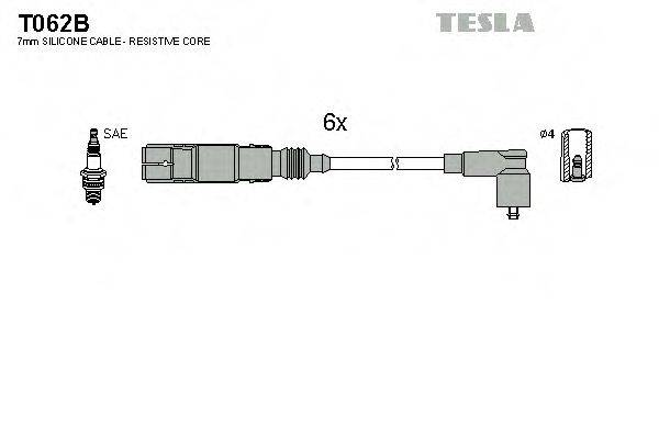 TESLA T062B Комплект проводов зажигания