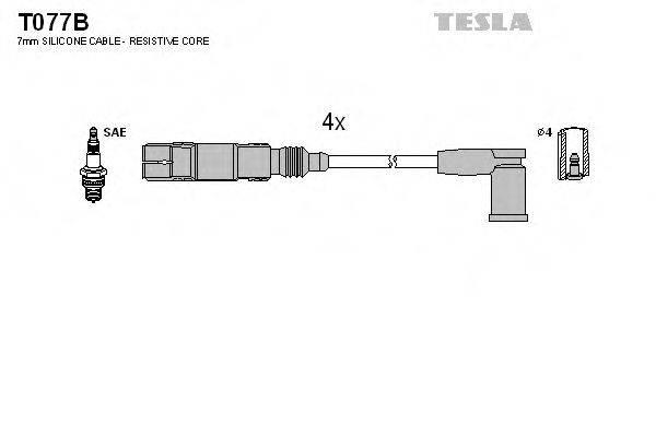 TESLA T077B Комплект проводов зажигания