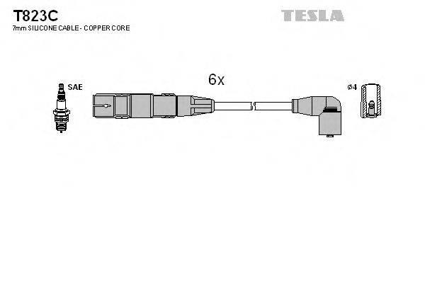 TESLA T823C Комплект проводов зажигания