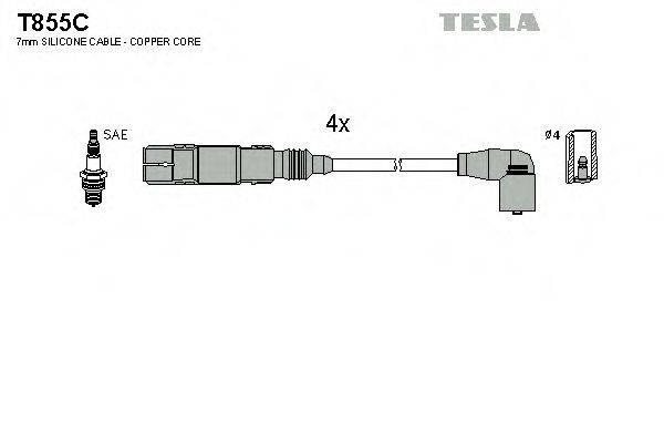 TESLA T855C Комплект проводов зажигания