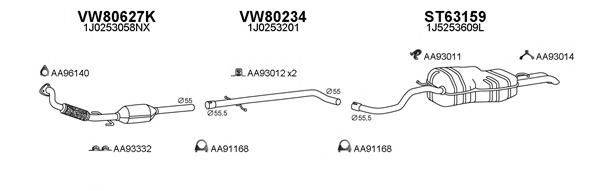 VENEPORTE 800358 Система выпуска ОГ