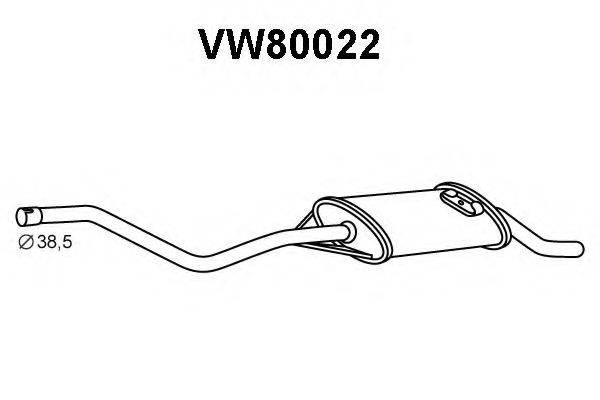 VENEPORTE VW80022 Глушитель выхлопных газов конечный