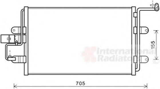 VAN WEZEL 03005130 Конденсатор кондиционера